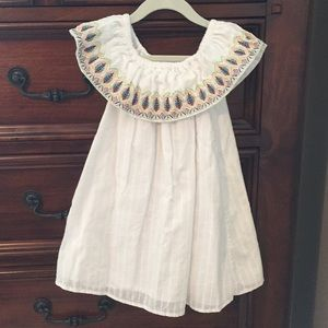 5t girl's white dress